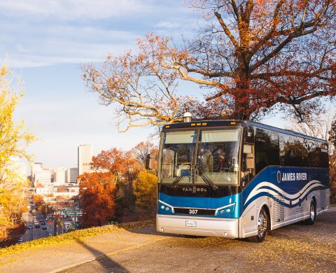 Bus in Fall Foliage