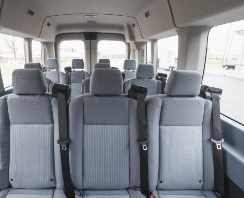 Airport Shuttle Sprinter Van Interior