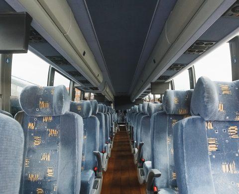 Virginia Charter Bus Interior View